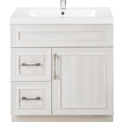 Cutler Kitchen And Bath Vanity Breakfast Nook Fogo Harbour 30 Inch W 2 Drawer 1 Door Freestanding In Off White With Acrylic Top The Home Depot Canada