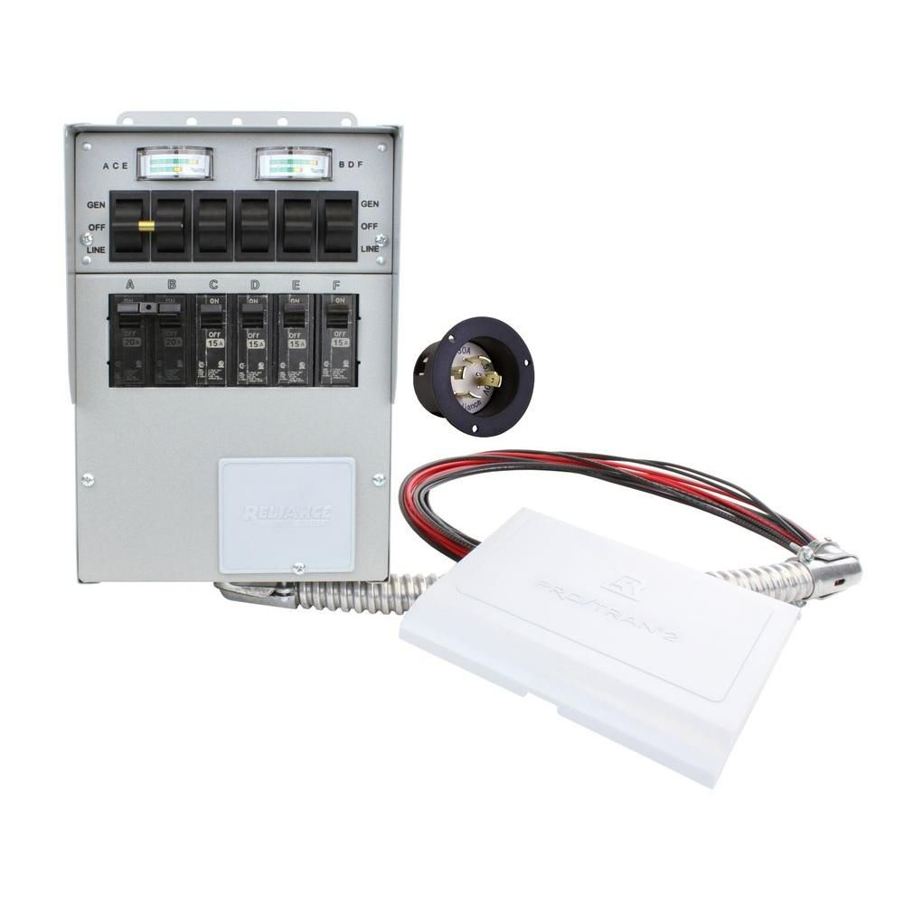 medium resolution of reliance controls 306a 30 amp 6 circuit manual transfer switch meters power inlet