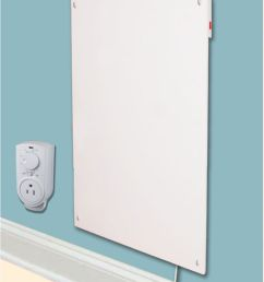 amaze heater 600w with plug in thermostat electric panel room [ 1000 x 1000 Pixel ]