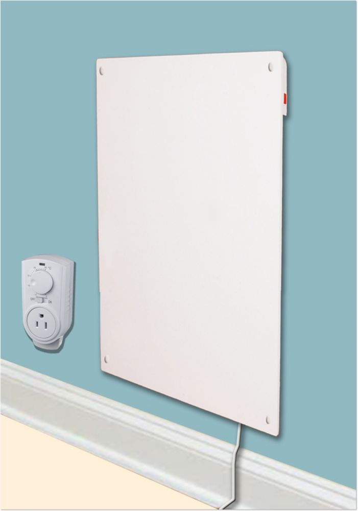 medium resolution of amaze heater 600w with plug in thermostat electric panel room