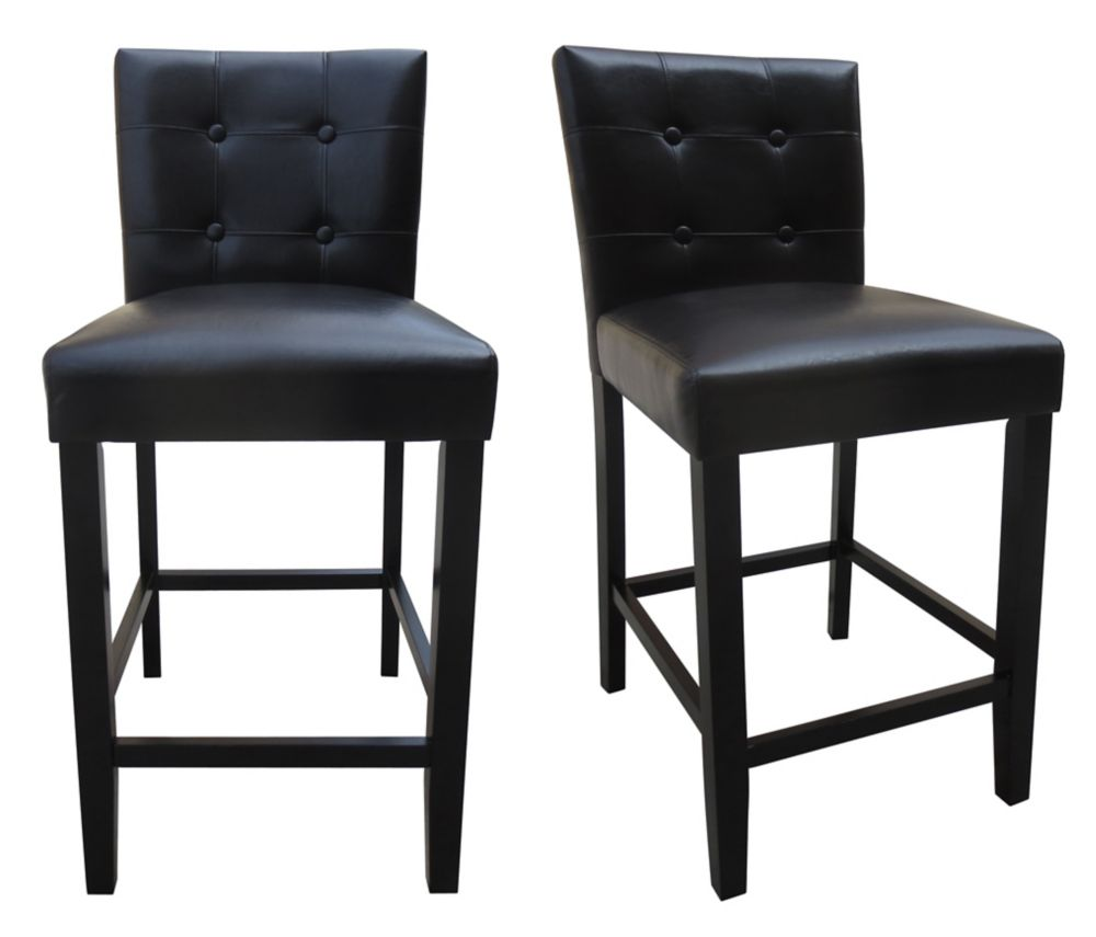 kitchen stools with backs cabinet buffet bar counter height the home depot canada 2 pk 25 inch parson chair