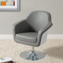 White Leather Accent Chair Canada Hanging Stand Corliving Mod Modern Bonded Grey And