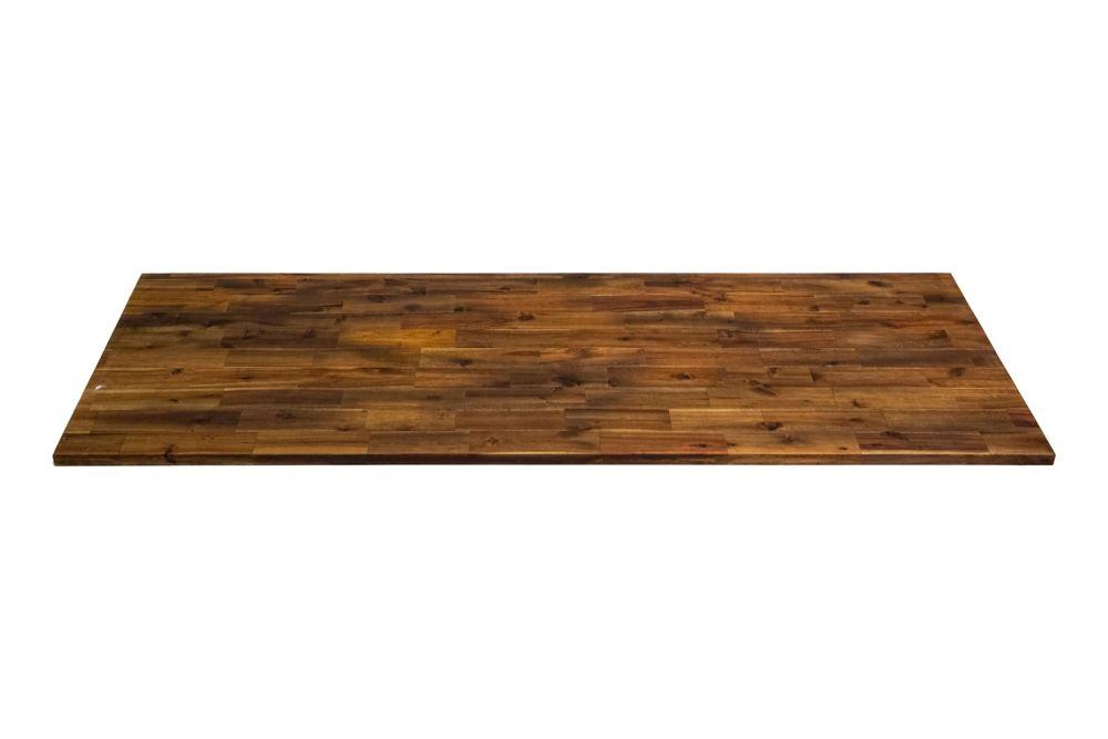 Interbuild  Inch X   Inch X   Inch Acacia Wood Kitchen Countertop Brown