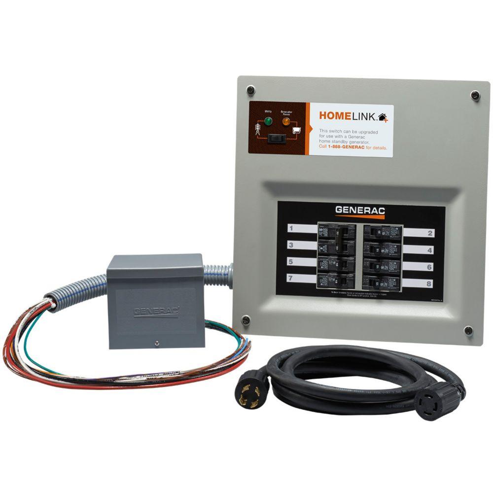 generac homelink manual transfer switch 30 amp 6 8 circuit kit [ 1000 x 1000 Pixel ]