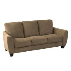 Brown Fabric Sofa Wooden Set Furniture Design Corliving Jazz Chenille The Home Depot Canada