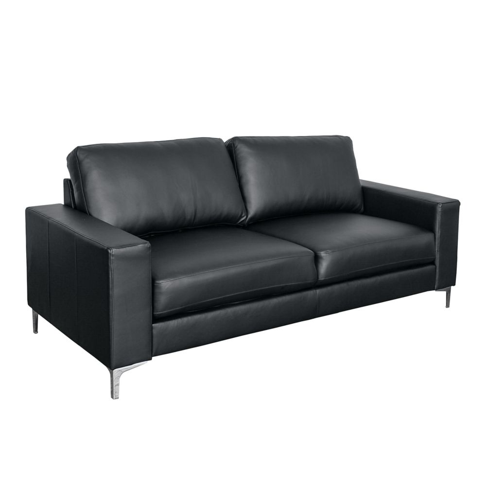 contemporary leather sofa bed bernhardt andrew price sofas sectionals the home depot canada corliving cory black bonded