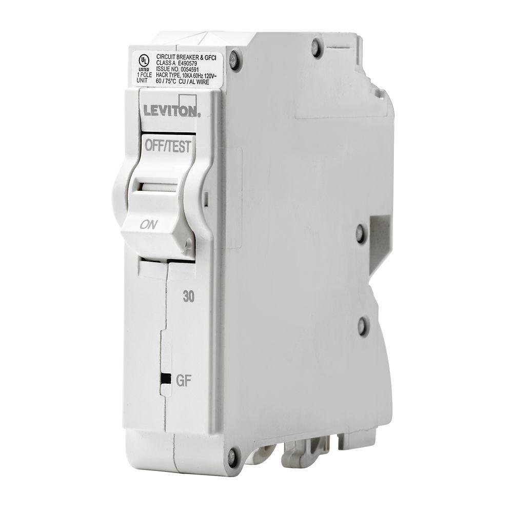medium resolution of leviton 1 pole 30a 120v gfci plug on circuit breaker