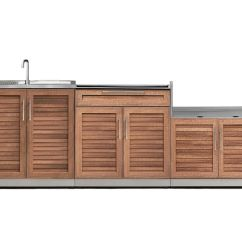 Outdoor Kitchen Furniture For Small Kitchens Built In Bbqs Cabinets More The Home Grove 3 Piece 97 Inch W X 36 5 H 24
