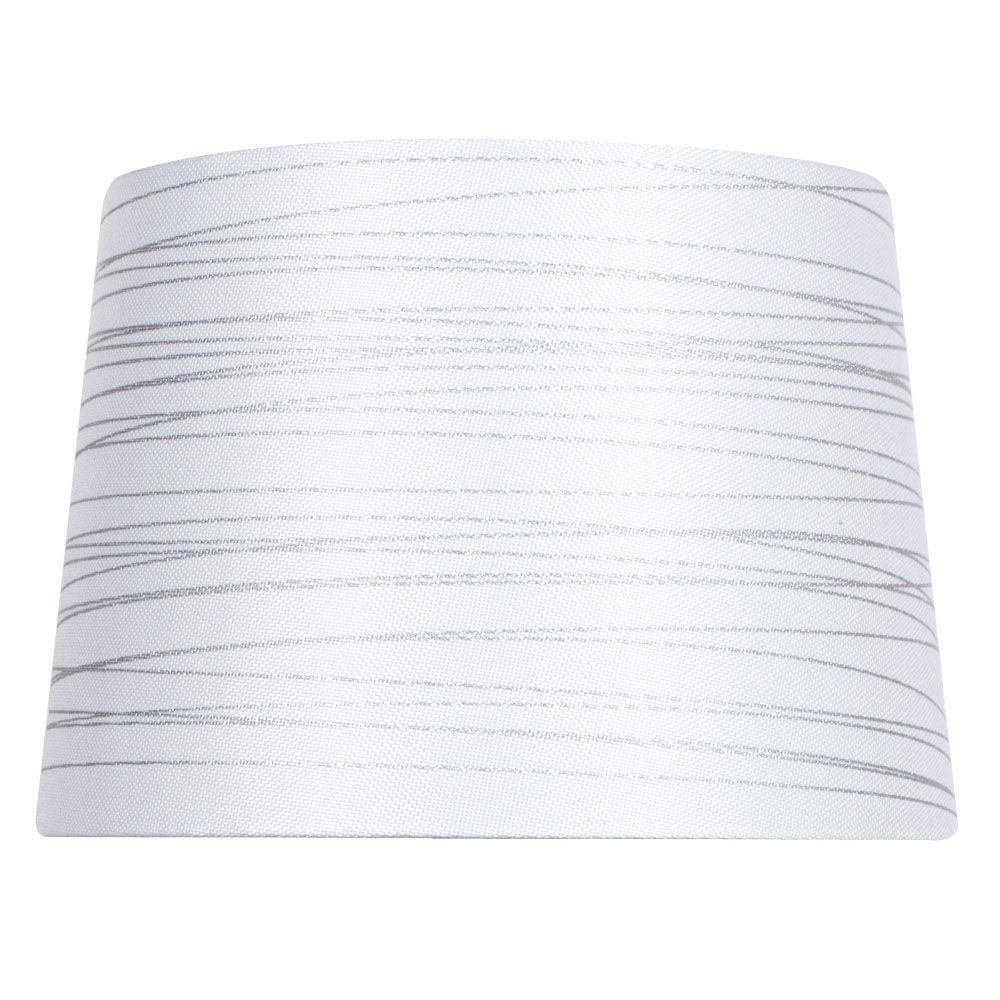 Hampton Bay 14 Inch Dia White With Silver Foil Linen Blend Table Lamp Shade The Home Depot Canada