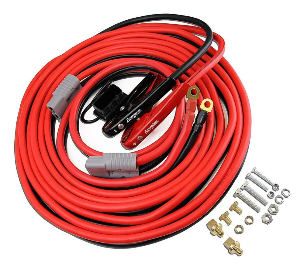 hight resolution of energizer 1 gauge 30 foot jumper cables install kit with quick connection