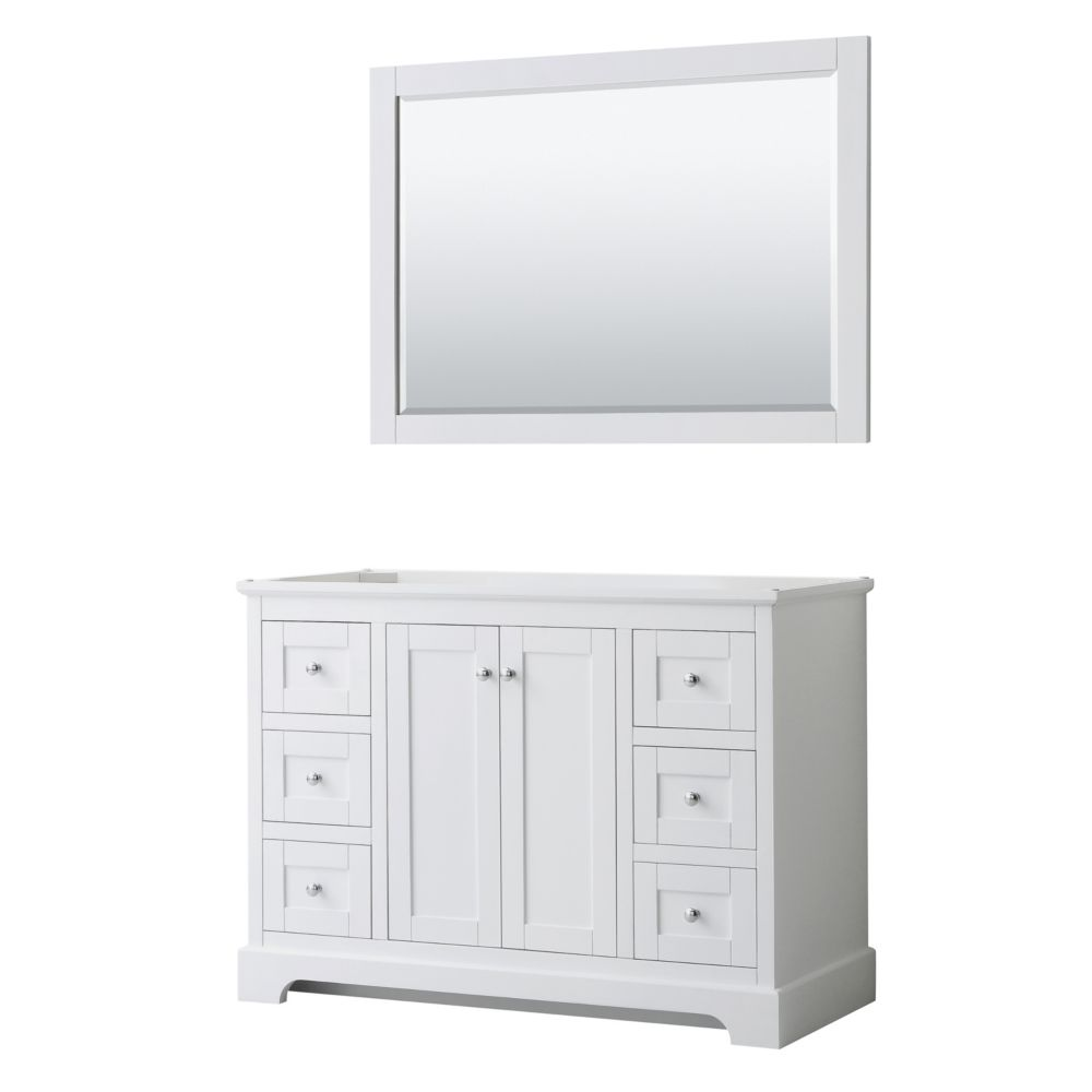 Wyndham Collection Avery 48 Inch Single Bathroom Vanity In White No Countertop No Sink The Home Depot Canada