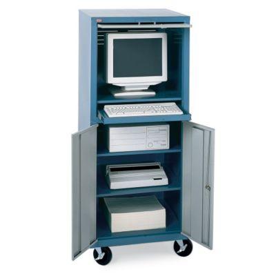 Mobile Computer Workstation Cabinet