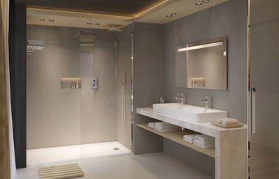 salle de bains en sous sol