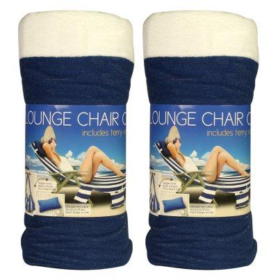 beach chair cover swivel kayak towel lounge blue white samsclub com auctions