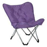 Sharper Image Plush Memory Foam Dorm Chair - Purple ...