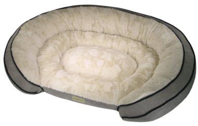 "PoochPlanet Grand Comfort Pet Bed, Grey (42"" x 30"