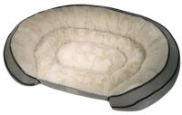 "PoochPlanet Grand Comfort Pet Bed, Grey (42"" x 30"