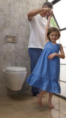 Toto Aquia Wall Hung Dual Flush Elongated Toilet Bowl