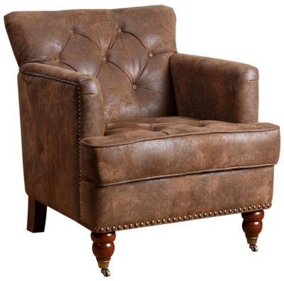 tafton club chair retro swivel tufted art van home brown large