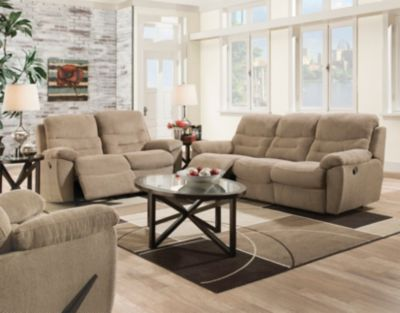 nice living room sets wall color for art van home furniture bingo 2 piece reclining sofa loveseat set large