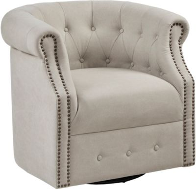 swivel chair large chairs for bathroom vanity kenly tufted art van home
