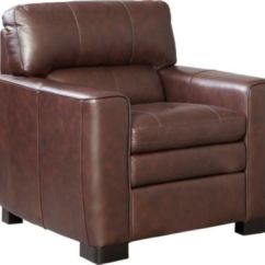 Genuine Leather Chair Lounge Modern Leland Art Van Home Large