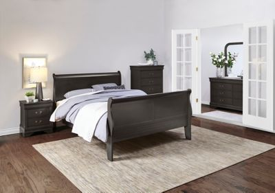 Philippe 5 Piece King Bedroom Set Grey  Outlet at Art Van