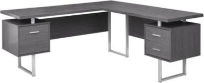 Cleek 70 Grey Corner Desk  Art Van Home