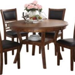 Dinner Table And Chairs Stretch Covers For Wingback Dining Room Sets Outlet At Art Van Gia Espresso 5 Piece Set Large