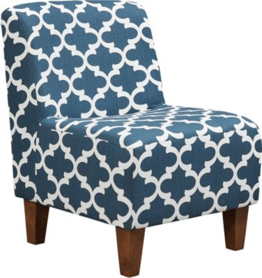 teal club chair in a bag with footrest accent chairs art van home amanda navy swatch