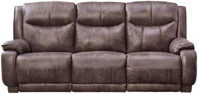 lane dual power reclining sofa gray modern sofas art van home velocity large