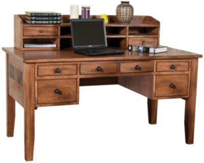 Sedona Writing Desk and Hutch  Art Van Furniture