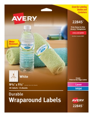 Avery Durable White Wraparound Labels