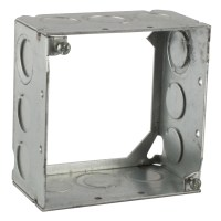 Steel City 531711234 4 in. Steel Square Box, 2