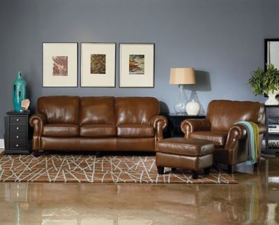 chair and ottoman sets under 200 purple upholstered dining chairs lane emerson leather queen sleeper sofa