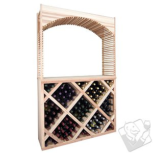 Designer Wine Rack Kit - Diamond Wine Bin Counter w/Archway