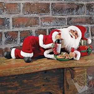 Wine and Cookies Santa