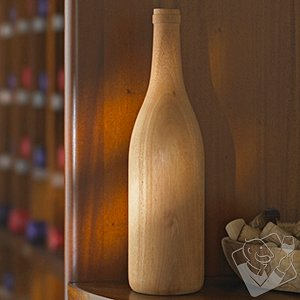 Wooden Wine Bottle Burgundy (Unfinished)