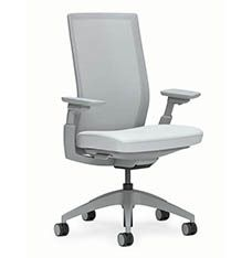 allsteel access chair silver dining chairs seating evo
