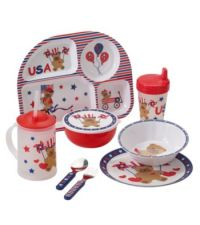 Livingquarters Americana Kids Dinnerware Collection ...