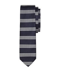 Men's Navy Horizontal Striped Tie   Brooks Brothers