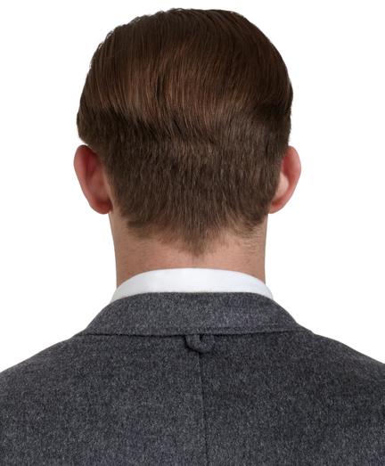 grey camel hair patch pocket sport