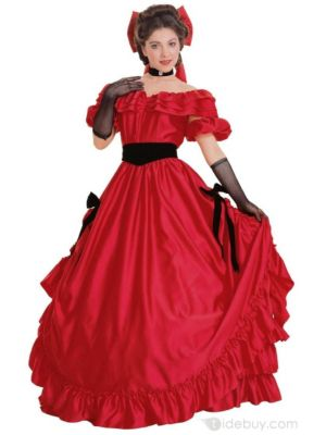 Red Southern Belle Halloween Costume Women