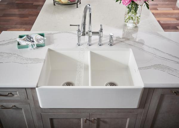 professional kitchen faucets 3 basin sink elkay | fine fireclay sinks in white, apron, farm ...