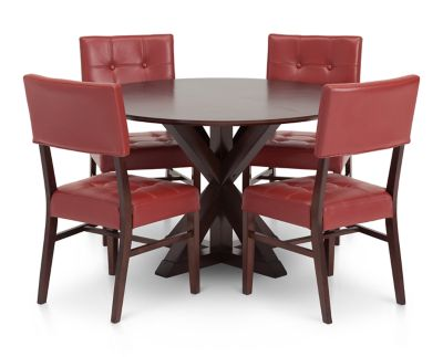 Belle Fontaine 5 Pc Dining Room Set Furniture Row