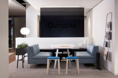Team Huddle Space Gunlocke Showroom  GunlockeOffice