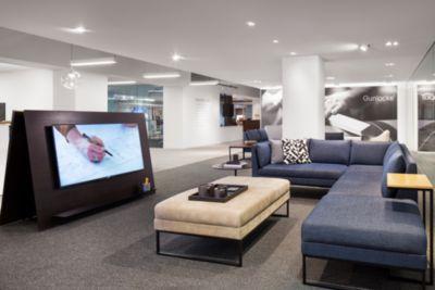 Calm Lounge Chicago Showroom 3 Gunlocke Office Furniture