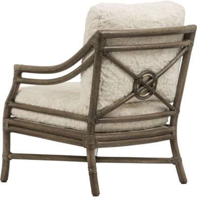 McGuire Furniture Rattan Target Lounge Chair No A43