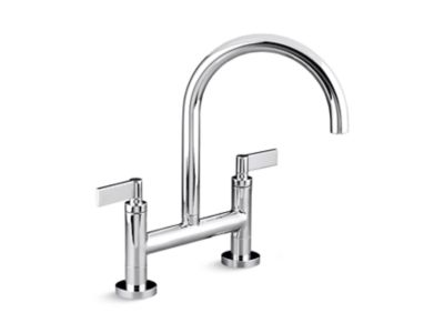 bridge kitchen faucet cabinet prices one deck mounted lever handles