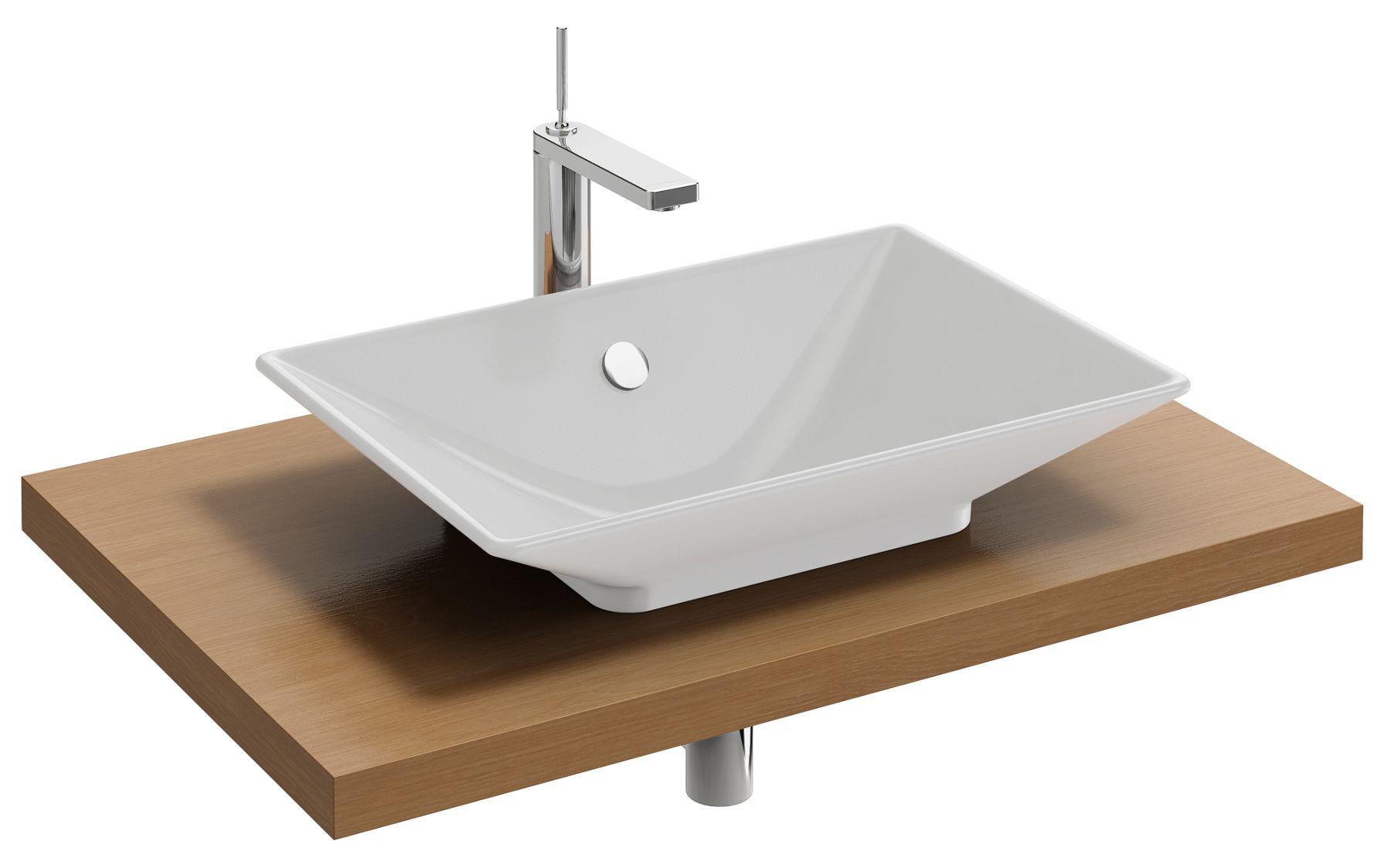 Parallel Plan De Toilette Bois 80 Cm Avec 1 Decoupe Centree Pour Vasque A Poser Jacob Delafon France